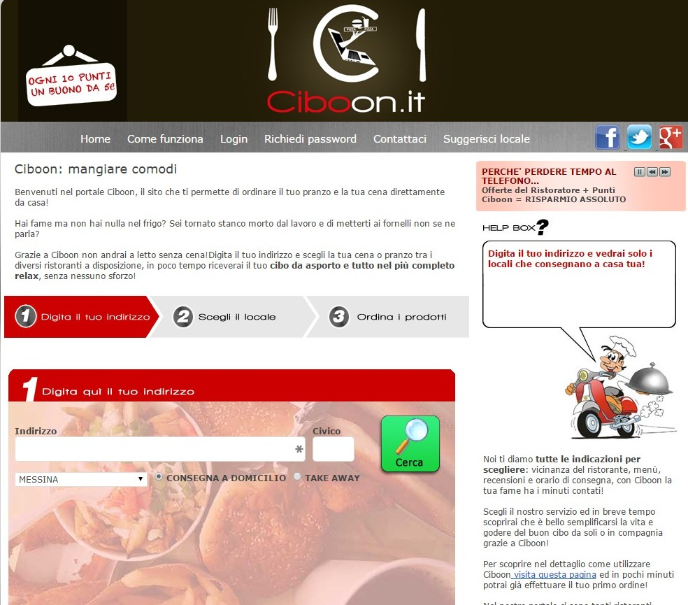 ciboon cibo a domicilio messina
